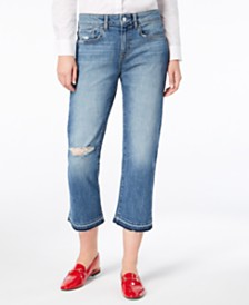 M1858 Jessica Ripped Straight-Leg Jeans, Created for Macy's