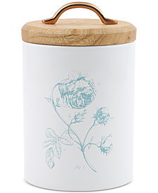 CLOSEOUT! Thirstystone Small Floral Canister with Wood Top