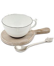 CLOSEOUT! Thirstystone Teacup Dip Bowl Set with Paddle & Spoon