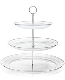 CLOSEOUT! Martha Stewart Collection Swirl Glass 3-Tier Server, Created for Macy's