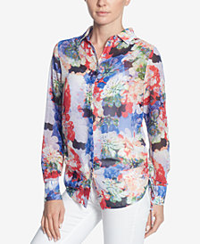 Catherine Catherine Malandrino Spencer Floral-Print Blouse