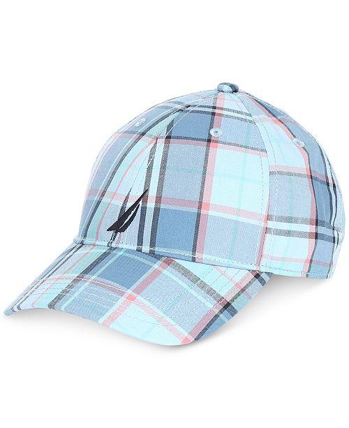f54048cc41c Nautica Men s Plaid Baseball Cap - Hats