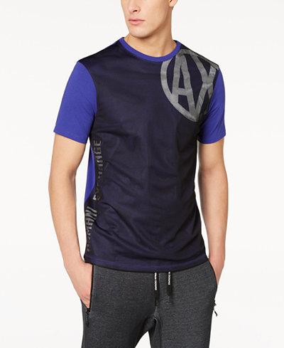 Armani Exchange Men's Colorblocked Mesh T-Shirt