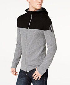 A|X Armani Exchange Men's Two-Tone Zip-Front Hoodie