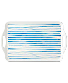 Dansk Nilsen Blue Stripe Rectangular Tray