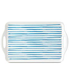 Danks Nilsen Melamine Blue Stripe Rectangular Tray