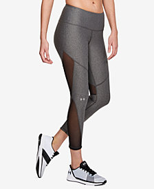 Under Armour HeatGear® Mesh-Inset Compression Workout Leggings