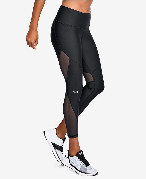 dfe21118091f9a ... Under Armour HeatGear® Mesh-Inset Compression Workout Leggings ...