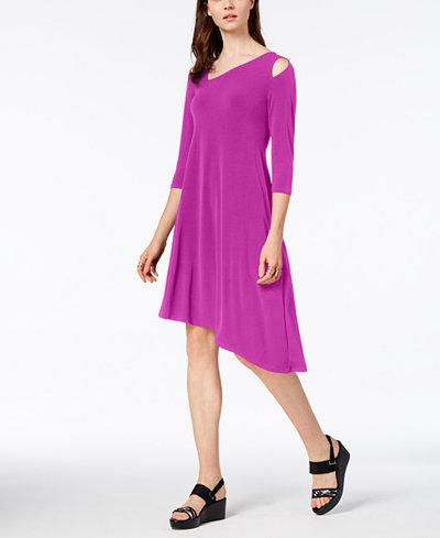 Alfani Cutout Asymmetrical Dress, Created for Macy's