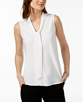 dd45bff7013995 Tie Neck Blouse  Shop Tie Neck Blouse - Macy s