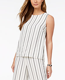 Nine West Striped Shell
