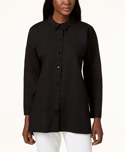 Eileen Fisher Organic Cotton Tunic Shirt, Regular & Petite Sizes