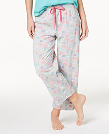 Charter Club Soft Cotton Printed Pajama Pants, Created for Macy's