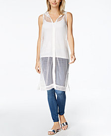 Steve Madden Sleeveless Zip Cover-Up