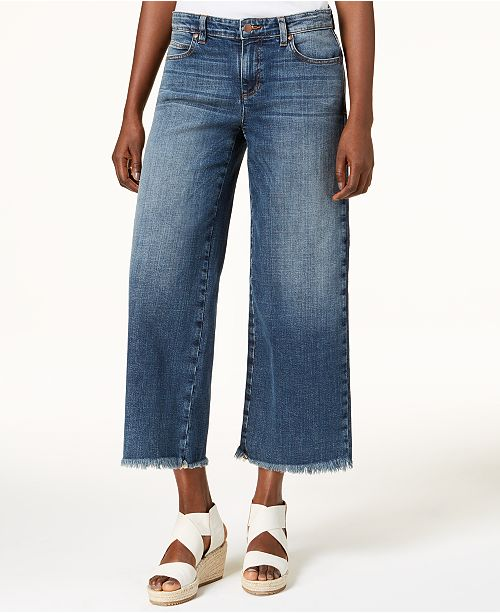 Eileen Fisher Organic Cotton Cropped Wide-Leg Jeans - Jeans - Women ... 726de8a229