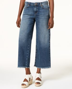 Eileen Fisher Organic Cotton Cropped Wide-Leg Jeans 5745613
