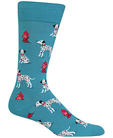 Hot Sox Men's Dalmatian Socks
