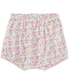 Ralph Lauren Floral-Print Cotton Bloomer, Baby Girls