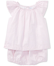 Ralph Lauren Cotton Seersucker Dress, Baby Girls