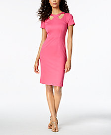 Trina Turk Caladium Cutout Sheath Dress