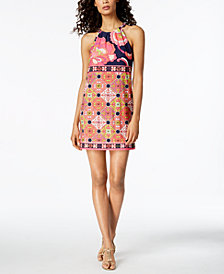 Trina Turk Vacaciones Printed Halter Dress