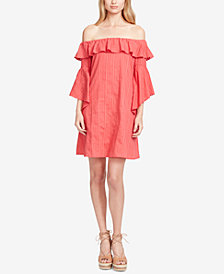 Jessica Simpson Juniors' Striped Off-The-Shoulder Dress