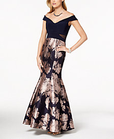 Xscape Petite Off-The-Shoulder Mermaid Gown