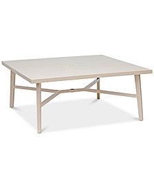 "Beach House Aluminum Outdoor 68"" x 68"" Table, Created for Macy's"