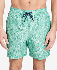 "Calvin Klein Men's Printed Euro Length 5.375"" Swim Trunks"