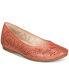 Bare Traps Mariah Perforated Memory Foam Hidden Wedge Flats
