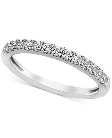 White Sapphire Band (1/2 ct. t.w.) in 14k White Gold