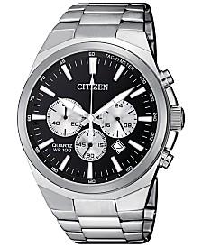 Citizen Men's Chronograph Quartz Stainless Steel Bracelet Watch 40mm