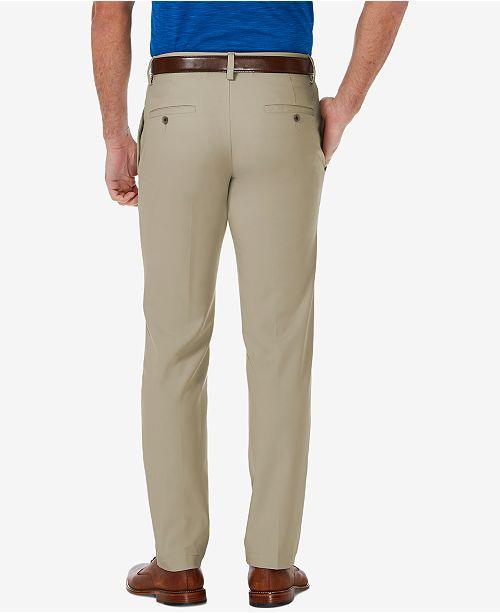 e46758581a8 Haggar Men s Cool® 18 PRO Slim-Fit Flat Front Stretch Dress Pants ...