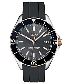 BOSS Hugo Boss Men's Ocean Edition Black Rubber Strap Watch 42mm
