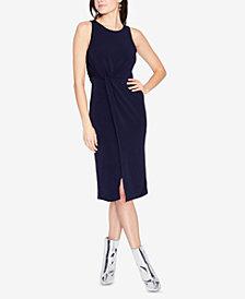 RACHEL Rachel Roy Knot-Front Slit-Skirt Dress, Created for Macy's