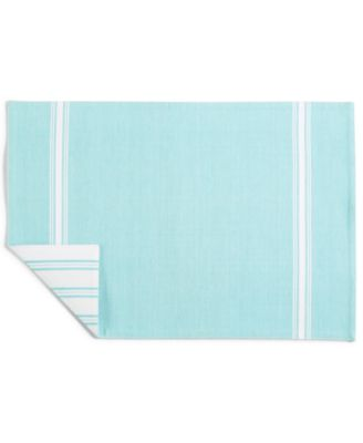 Striped Teal Cotton Placemat, Created for Macy's