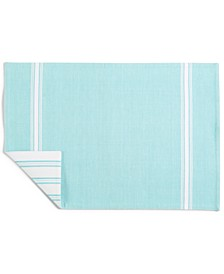CLOSEOUT! Striped Teal Cotton Placemat, Created for Macy's