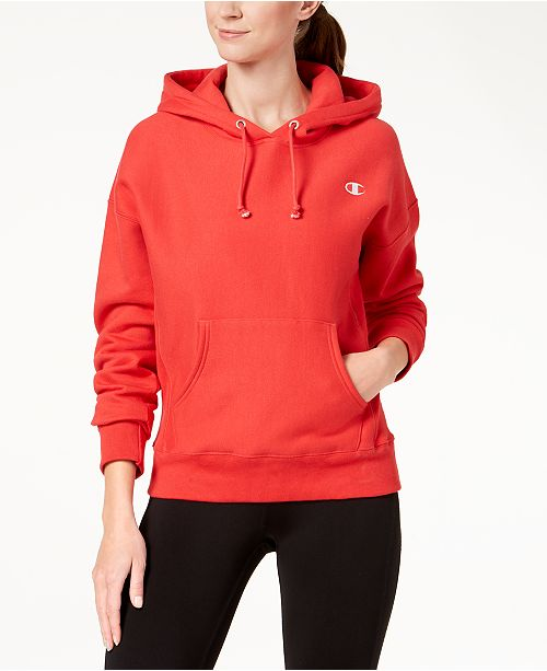 Champion Reverse-Weave Fleece Hoodie - Tops - Women - Macy s 3b337e0177