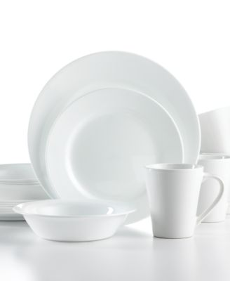 Corelle Shimmering White R..  sc 1 st  Macyu0027s & Corelle Boutique Swept Embossed 16-Pc. Set Service for 4 ...