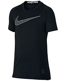 Nike Pro Logo-Print T-Shirt, Big Boys