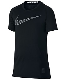 Nike Big Boys Pro Logo-Print T-Shirt