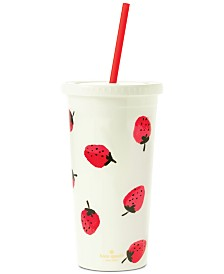 kate spade new york Tumbler with Straw, Strawberries