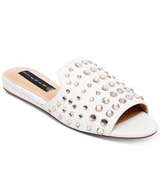 Steven by Steve Madden Sensai Leather Slip-On Sandals