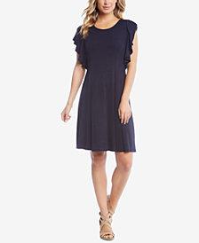 Karen Kane Flutter-Sleeve A-Line Dress