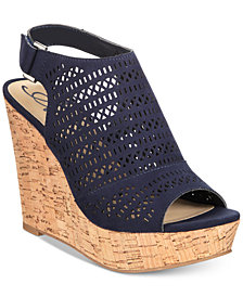 American Rag Charlize Perforated Platform Wedge Sandals, Created for Macy's