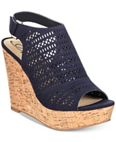 58d3d6dd068 American Rag Charlize Perforated Platform Wedge Sandals