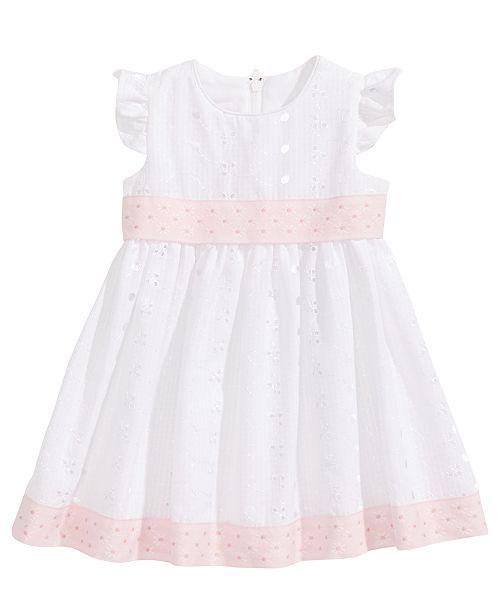 ff283dfc36 ... Bonnie Baby Flutter-Sleeve Eyelet Dress