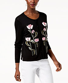 I.N.C. Petite Embellished Cardigan, Created for Macy's