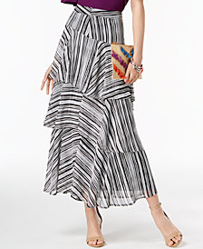 I.N.C. Printed Tiered Skirt, Created for Macy's