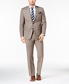 CLOSEOUT! Lauren Ralph Lauren Men's Classic-Fit Ultraflex Stretch Light Brown Sharkskin Suit
